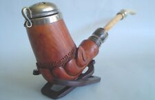 BUTZ CHOQUIN L'ANCIENNE SAINT CLAUDE FRANCE HORN ALBATROS BONE STEM BRIAR PIPE