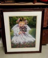T. Richard Framed Art Print Sweet Angel 1 Frame Size 21.5 x 17.5 Print 16 x 12