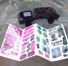 2014 General Mills MEGA BLOKS Black Car w/ Power Rangers & Hello Kitty Stickers