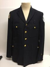 Vtg 60's Chicago Police Commander Wool Dress Blazer Patch 40R Chicago Buttons