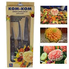 Carving Knife Set Thai Fruit Vegetable Soap Art Stainless Steel Kom-Kom Knives