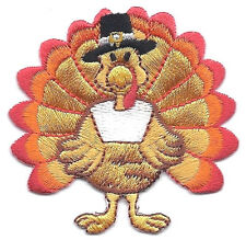 THANKSGIVING TURKEY (Large) - Iron On Embroidered Applique-Holidays Food