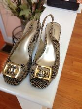 Anne Klein iflex Shoes. Multi Snake Embossed.  Size 7.5