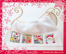 Semco Christmas Cross Stitch Tea Towel kit - BNIP