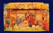 132] POP UP 3D SCENE NATIVITY SCENE CRECHE  PRESEPE DI CARTA TRIDIMENSIONALE