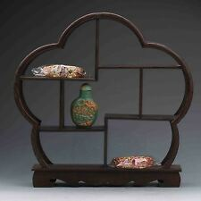 Chinese suanzhi wood carved put small curio stand/shelf or display NR Z958