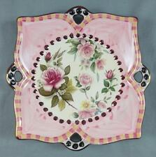 "MacKENZIE CHILDS ""Chelsea"" Floral with Copper Luster Rim 7"" PLATE  -EUC-"