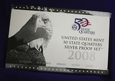 2008 U.S. Mint Silver 50 State Quarter Proof Set.