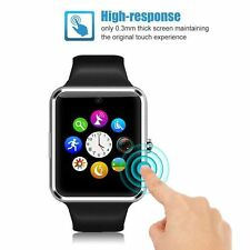 "Gt08 1.54"" nero touch screen Bluetooth Smart Watch Phone Mate Per iOS Android"