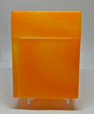 Kingstar Mega Orange Plastic Cigarette Case - Great For RYO Holds 40 Cigarettes!
