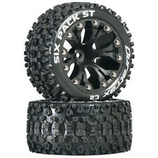 Duratrax Mounted Six Pack ST Tires Wheels 4WD Stampede Savage XS Flux Front Rear