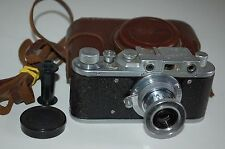 Zorki 1 Type D Vintage Soviet Rangefinder Camera With Case & Cap 1955. No.542561