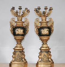 Pair French Empire Ormolu Candelabras