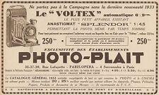 Y8846 PHOTO-PLAIT - Voltex automatique - Pubblicità d'epoca - 1933 Old advert