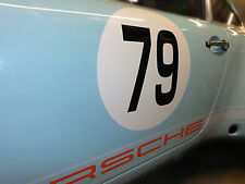 Porsche 911 race number roundels set of 3 x 40 cm dia - Genuine easy fit vinyl