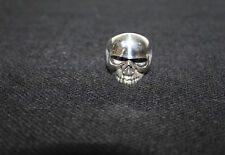 Harley Davidson Style Mens Skull Ring 9.25 Sterling Silver (Size 12)