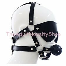 USA Blindfold & Breathable Ball Gag Mouth Gags Fantasy BDSM Harness Bondage