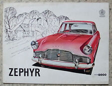 FORD ZEPHYR & CONVERTIBLE Car Sales Brochure 1959 #C5729/259
