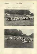 1899 Living Whist Played By Children Ilkley Piccaninnie Child Alhambra