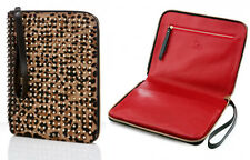 "Christian Louboutin ""Chris"" Studded Leopard Pony Hair Tablet iPad Case"
