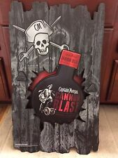 "Captain Morgan Carribean Rum Cannon Blast Wooden Bar 3D Sign 29"" X 18"" X 2"" NIB"