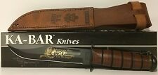 Ka-bar US ARMY Korean War Commemorative Plain Edge Fixed Blade Knife - 02-9105