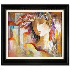 """City Girl"" by ARBE ORIGINAL Oil Painting on Canvas! Hand Signed & Custom Framed"