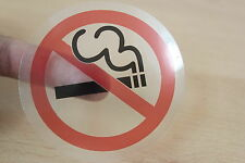 NO SMOKING CLEAR STICKER TAXI DRIVERS METERS PRIVATE HIRE DRIVERS SIGNS