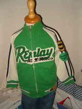 =O)REPLAY=O)coole Strickjacke Sweatjacke Cardigan=O)Sweat Jacke grün=O)104/4=)
