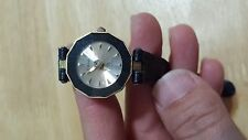 CAESER QUARTZ WATCH 4012L  FOR WOMANS BLACK LEATHER BAND WATER RESISTANT