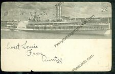 "Hudson River Dayline ""New York"" (1905 postcard(SH#1)#611"