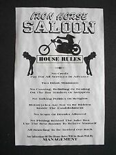 """(881) OUTLAW IRON HORSE SALOON BIKER CHOPPER MOTORCYCLE RULES POSTER 11""""X17"""""""