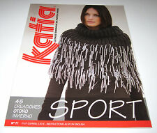 KATIA Fall/Winter SPORT knitting yarn pattern book #71 with 45 designs for ADULT