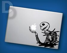 Skeleton with Apple Macbook decal Apple Laptop sticker / tattoo stencil decal