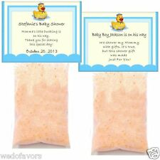 Baby Shower Favors 25 Personalized Bath Salts My Rubber Duck Theme