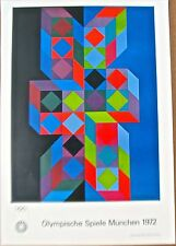 Victor Vasarely Poster  For the 1972 Olympic Games in Munich Germany 16x11  PP