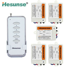 220V 5CH Wireless Remote Control Switch for Light Lamp 5 Receivers Hot Selling