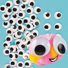 20 x JUMBO 22mm Peel & Stick Google / Wiggle Eyes Black & White ONLY £1.95