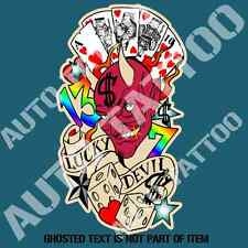 LUCKY DEVIL HOT ROD Decal Sticker for Mancave Rat Hot Rod Americana Stickers