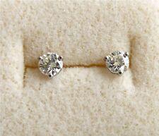 Diamond Stud Earrings in 14k White Gold, .56 TCW