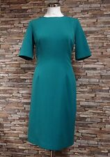 H & O Classic Teal Short Sleeved Dress Lined Size 16 New
