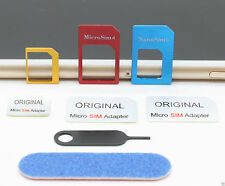 5 in 1 Nano Micro Sim Karten Adapter Set Nadel iPhone 6 5 4 Samsung HTC