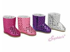 EWE BOOTS SHOES fits American Girl Dolls NEW PURPLE sparkle sequin sequins bling