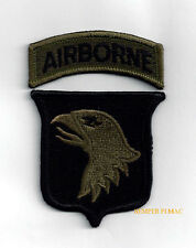 101ST AIRBORNE DIVISION ID SUBDUED PATCH & TAB SCREAMING EAGLES FORT CAMPBELL