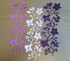 LOVELY, DELICATE YET DRAMATIC CATALINA BORDERS IN SHADES OF PURPLE.