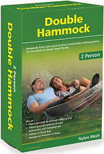 DOUBLE HAMMOCK, RELAX, SLEEP, PLAY, DRY STORE, FISH, EMERGENCY ROPE OR STRETCHER