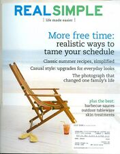 2008 Real Simple Magazine: More Free Time/Summer Recipes/Casual Style/BBQ Sauce
