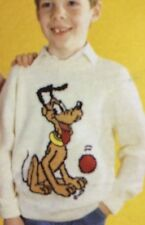 Disney Pluto Jumper ( Childrens & Adult)  Knitting Pattern