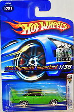 HOT WHEELS 2006 FIRST EDITIONS '70 PLYMOUTH SUPERBIRD #001 GREEN FACTORY SEALED