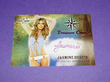 2014 Benchwarmer JASMINE DUSTIN Treasure Chest Pink/25 BEING MARY JANE Iron Man